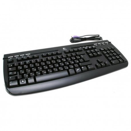 Clavier PC Filaire AZERTY PS/2 Logitech Y-SAG76A 867676-0101 118 Touches Noir