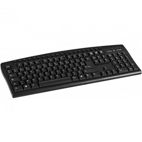Clavier PC Filaire AZERTY USB DACOMEX 225106 126 Touches Desktop Keyboard Noir