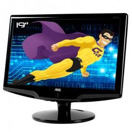 """Ecran Plat PC 18.5"""" AOC 931Swl TFT185W80PS2 TFT VGA VESA 1366x768 16:9"""