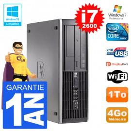 PC HP 6200 SFF Intel i7-2600 RAM 4Go Disque 1To Graveur DVD Wifi W7