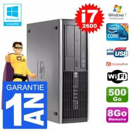 PC HP 6200 SFF Intel i7-2600 RAM 8Go Disque 500Go Graveur DVD Wifi W7