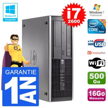 PC HP 6200 SFF Intel i7-2600 RAM 16Go Disque 500Go Graveur DVD Wifi W7