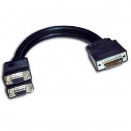 Adaptateur Doubleur DMS-60 LFH-60 vers 2x VGA Matrox 15941-00 30cm Noir