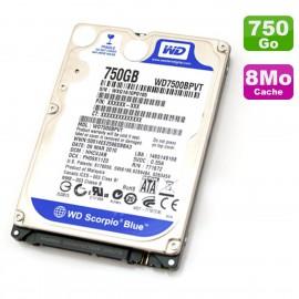 Disque Dur 750Go SATA 2.5 WD Scorpio Blue WD7500BPVT-80HXZT1 PC Portable 5400RPM