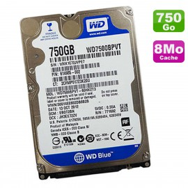 Disque Dur 750Go SATA 2.5 WD Scorpio Blue WD7500BPVT-60HXZT3 614985-002 5400RPM