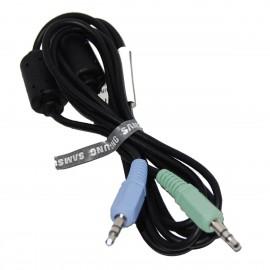 Câble Audio Jack Mâle 3.5mm Samsung BN39-00061C BN39-01286A 150cm Noir
