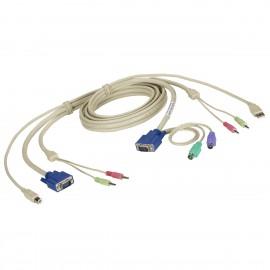 Câble KVM BLACK BOX EHN7002021-0006 724-746-5500 VGA PS/2 USB Jack NEUF