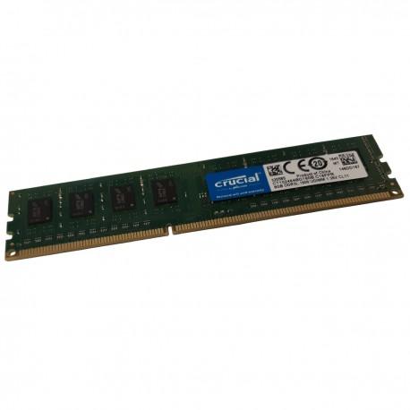 8Go RAM Crucial CT102464BD160B.C16FPR 240-PIN DDR3L PC3L-12800U 2Rx8 1.35v CL11