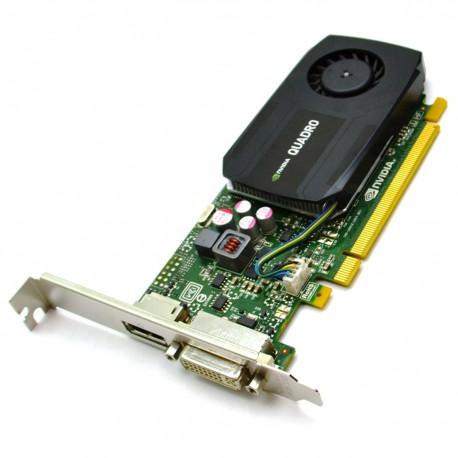 Carte HP NVIDIA Quadro K600 700102-001 713379-001 1Go GDDR3 PCI-e DVI-I Display