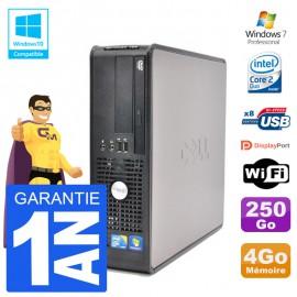 PC Dell 780 SFF Intel E7500 RAM 4Go Disque 250Go Graveur DVD Wifi W7