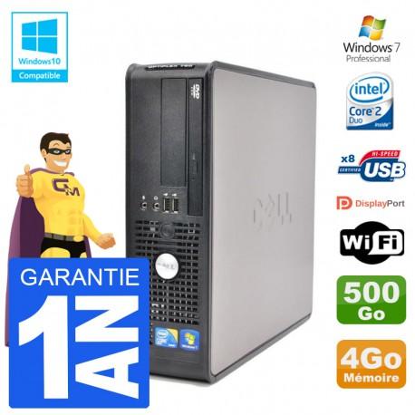 PC Dell 780 SFF Intel E7500 RAM 4Go Disque 500Go Graveur DVD Wifi W7