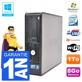 PC Dell 780 SFF Intel E7500 RAM 8Go Disque 1To Graveur DVD Wifi W7