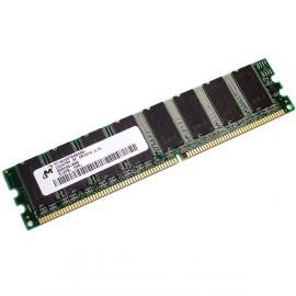 Ram Barrette Memoire MICRON 512Mo DDR1 PC-3200U 400Mhz MT16VDDT6464AG-40BC4 CL3