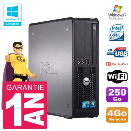 PC Dell 780 SFF Intel E8400 RAM 4Go Disque 250Go Graveur DVD Wifi W7