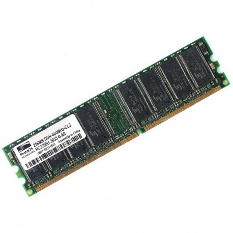 Ram Barrette Mémoire ProMOS 256MB DDR PC-3200U V826632K24SCTG-D3 1Rx8 Pc