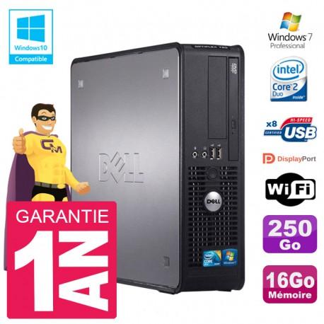 PC Dell 780 SFF Intel E8400 RAM 16Go Disque 250Go Graveur DVD Wifi W7