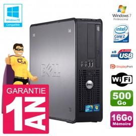 PC Dell 780 SFF Intel E8400 RAM 16Go Disque 500Go Graveur DVD Wifi W7