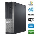PC DELL Optiplex 390 DT G630 2.7Ghz 2Go 250Go Graveur DVD WIFI HDMI Win 7 Pro