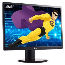 """Ecran Plat PC Pro 22"""" LG Flatron L222WS-BN LCD TFT TN VGA 1680x1050 16:10 Wide"""