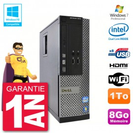 PC Dell 3010 SFF Intel G2020 RAM 8Go Disque 1To Graveur DVD Wifi W7