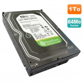 "Disque Dur 1To WD GreenPower WD10EURX-63C57Y0 3.5"" SATA III 6Gbps 5400RPM 64Mo"