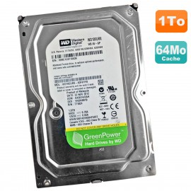 "Disque Dur 1To WD GreenPower WD10EURX-63FH1Y0 3.5"" SATA III 6Gbps 5400RPM 64Mo"