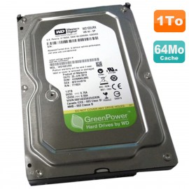 "Disque Dur 1To WD GreenPower WD10EURX-63UY4Y0 3.5"" SATA III 6Gbps 5400RPM 64Mo"