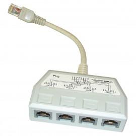 Hub Quadrupleur RJ-45 Ethernet NGC NGC5645 MAMU09 Téléphone