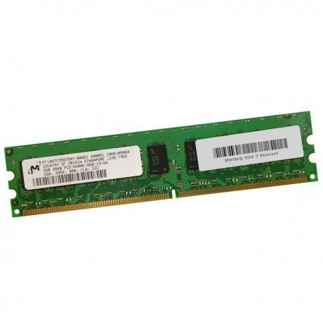 2Go RAM Serveur MICRON MT18HTF25672AY-800G1 DDR2 PC2-6400E ECC 800Mhz 2Rx8 CL6