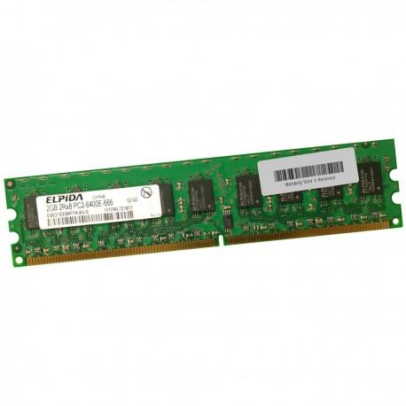 2Go RAM Serveur ELPIDA EBE21EE8AFFA-8G-E DDR2 PC2-6400E ECC 800Mhz 2Rx8 1.8v CL6