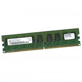 1Go RAM Serveur Qimonda HYS72T128000EU-2.5-C2 PC2-6400E ECC 800Mhz 1Rx8 1.8v CL6
