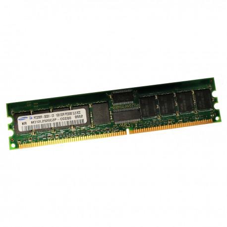1Go RAM Serveur Samsung M312L2920CZP-CCC DDR1 PC-3200R ECC 400Mhz 184-Pin CL3