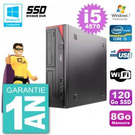 PC Fujitsu Esprimo E520 DT i5-4570 RAM 8Go SSD 120Go Graveur DVD Wifi W7