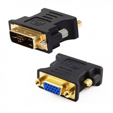 Adaptateur DVI-A Mâle vers VGA Femelle DB-15 Noir