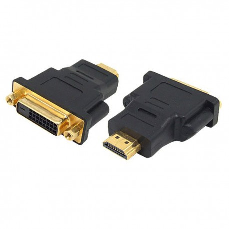 Adaptateur HDMI Mâle vers DVI-D Dual Link Femelle Noir NEUF