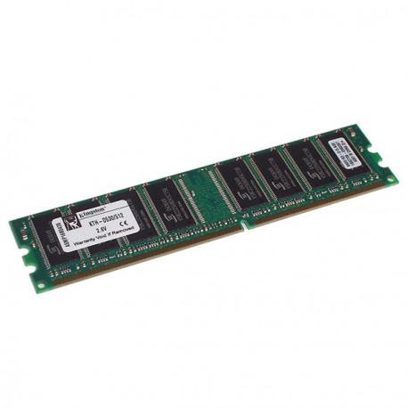Ram Barrette Memoire KINGSTON 512Mo DDR1 PC-2700U 333Mhz KTH-D530/512