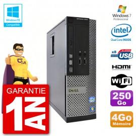 PC Dell 3010 SFF Intel G640 RAM 4Go Disque Dur 250Go Graveur DVD Wifi W7