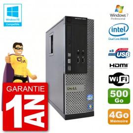 PC Dell 3010 SFF Intel G640 RAM 4Go Disque Dur 500Go Graveur DVD Wifi W7