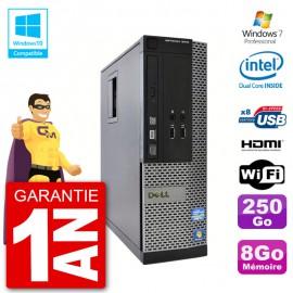 PC Dell 3010 SFF Intel G640 RAM 8Go Disque Dur 250Go Graveur DVD Wifi W7