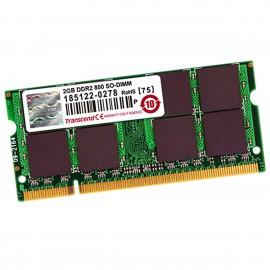 2Go RAM TRANSCEND JM800QSU-2G SODIMM PC Portable DDR2 PC2-6400S 800MHz NEUVE