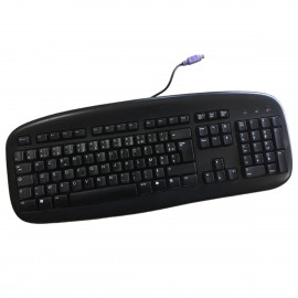 Clavier AZERTY Noir PS/2 LOGITECH Y-SU61 867652-0101 105 Touches