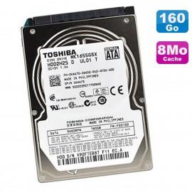 """Disque Dur 160Go SATA 2.5"""" TOSHIBA MK1656GSY HDD2E64 0VGVXY VGVXY 7200RPM 8Mo"""
