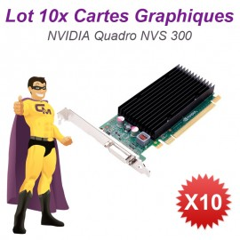 Lot x10 Carte Graphique NVIDIA Quadro NVS300 04M1WV PCIe DMS-59