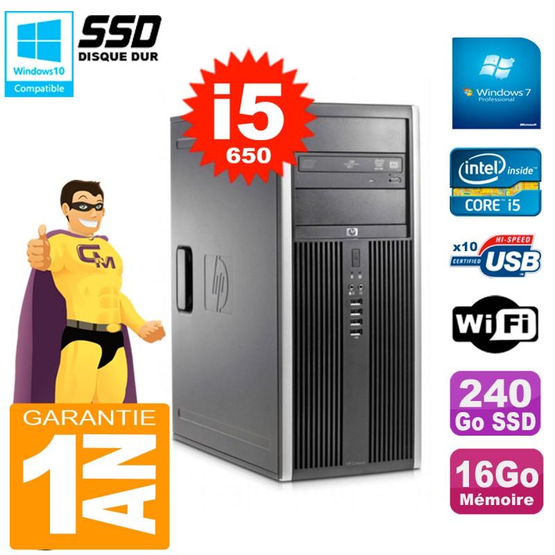 PC-HP-8100-Tour-Core-i5-650-RAM-16Go-SSD-240Go-Graveur-DVD-Wifi-W7