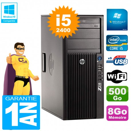 PC HP WorkStation Z210 Tour Core i5-2400 RAM 8Go 500Go Graveur DVD Wifi W7