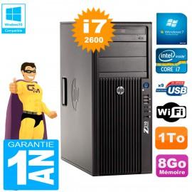 PC HP WorkStation Z210 Tour Core i7-2600 RAM 8Go 1To Graveur DVD Wifi W7