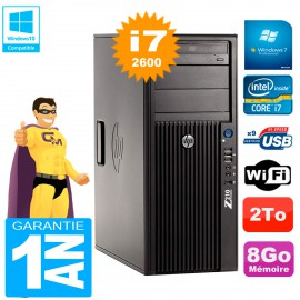 PC HP WorkStation Z210 Tour Core i7-2600 RAM 8Go 2To Graveur DVD Wifi W7