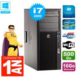 PC HP WorkStation Z210 Tour Core i7-2600 RAM 16Go 500Go Graveur DVD Wifi W7