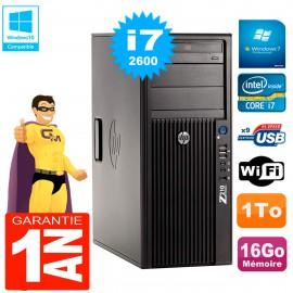 PC HP WorkStation Z210 Tour Core i7-2600 RAM 16Go 1To Graveur DVD Wifi W7