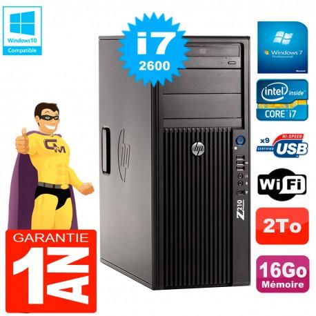 PC HP WorkStation Z210 Tour Core i7-2600 RAM 16Go 2To Graveur DVD Wifi W7